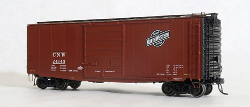 Tangent Scale Models HO 26011-02 PS-1 40' Box Car with 9' Door, Chicago and North Western #24123