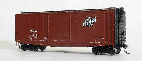 Tangent Scale Models HO 26011-04 PS-1 40' Box Car with 9' Door, Chicago and North Western #24145