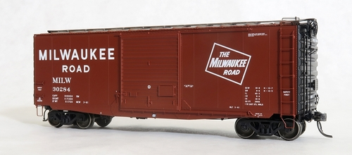 Tangent Scale Models HO 26013-02 PS-1 40' Box Car with 9' Door, Milwaukee Road #30259