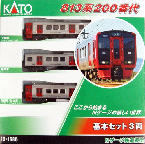 Kato N 101686 813-200 Series 3-Car Basic Set, Japanese National Railways