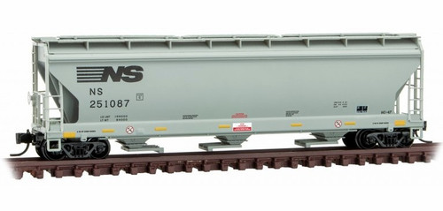 Micro-Trains N 09400031 3-Bay Covered Hopper with Elongated Hatches, Norfolk Southern #251087