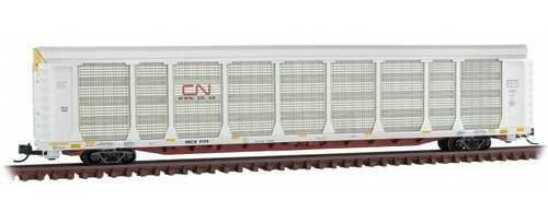 Micro-Trains N 11100341 89' Tri-Level Closed Autorack, Canadian National #9199