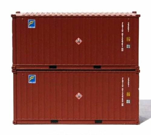 Jacksonville Terminal Company N 205325 20' Containers with Magnetic System, Florens (2)