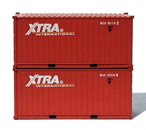Jacksonville Terminal Company N 205372 20' Containers with Magnetic System, XTRA International (2)