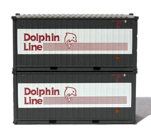 Jacksonville Terminal Company N 205435 20' Containers with Magnetic System, Dolphin Line (2)