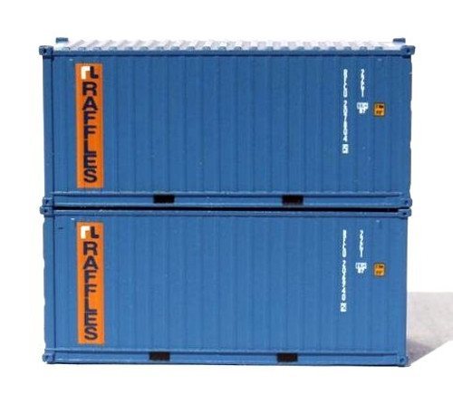 Jacksonville Terminal Company N 205384 20' Containers with Magnetic System, Raffles (2)