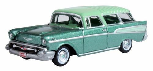 Oxford Diecast HO 87CN57006 1957 Chevrolet Nomad, Surf Green/Highland Green