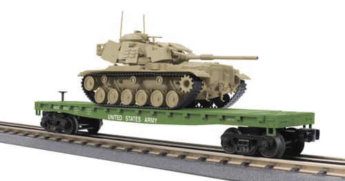 MTH RailKing O 30-76846 Flat Car with M60 Tank, U.S. Army #8422