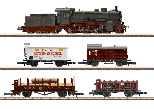 Marklin Z 81302 Provincial Freight Train Set with P8 Steam Locomotive, KPEV
