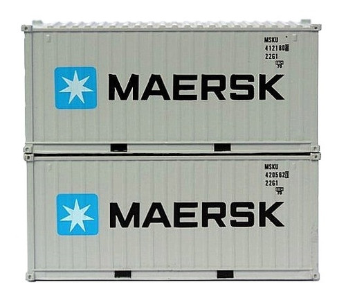 Jacksonville Terminal Company N 205333 20' Standard Height Containers with Magnetic System, MAERSK (2)