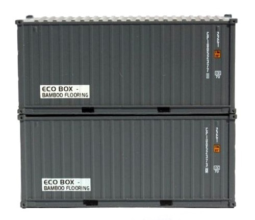 """Jacksonville Terminal Company N 205432 20' Standard Height Containers with Magnetic System, CPI """"Eco Box"""" (2)"""