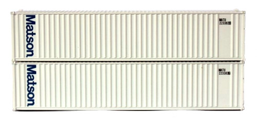Jacksonville Terminal Company N 405523 40' Standard Height 2-P-44-P-2 Panel Side Containers with Magnetic System, Matson (2)