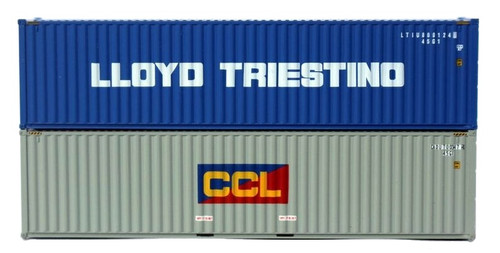 Jacksonville Terminal Company N 405808 40' High Cube Containers with Magnetic System, Llyod Triestino/CCL (2)