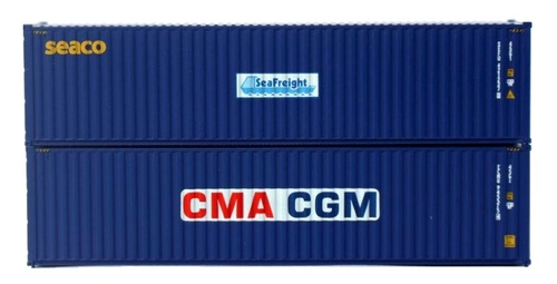 Jacksonville Terminal Company N 405811 40' High Cube Containers with Magnetic System, CMA CGM/SEACO (2)