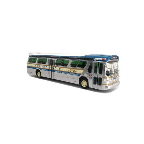 Iconic Replicas O 43-0260 GM TDH5301 Transit Bus, Greyhound Bus Lines 1964 New York Worlds Fair (1:43)