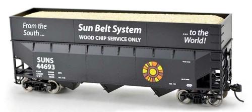 Bowser HO 2-5977 70-Ton Woodchip Car, Sun Belt Road #44726
