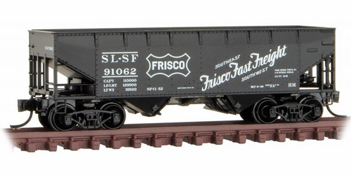 Micro-Trains N 05500610 33' Twin Bay Hopper with Offset Sides, Frisco #91062
