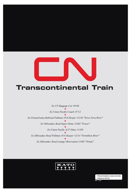 "Kato N 106102-1 ""Transcontinental"" 7-Car Set, Canadian National"
