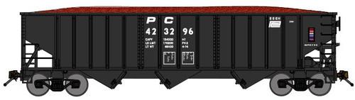 Bluford Shops N 14473 14-Panel 70-Ton 3-Bay Hoppers, Penn Central (3-Pack)
