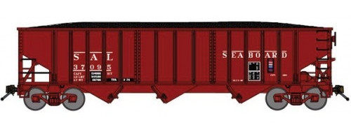 Bluford Shops N 14491 14-Panel 70-Ton 3-Bay Hopper, Seaboard Air Line #37095