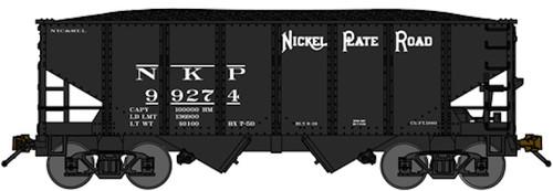 """Bluford Shops N 60313 USRA 30'6"""" 2-Bay Hoppers, Nickel Plate Road (3-Pack)"""