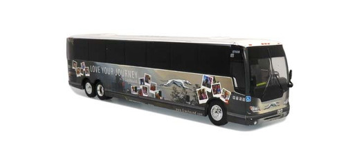 """Iconic Replicas HO 87-0275 2019 Prevost X345 Motorcoach Bus, Greyhound """"Love Your Journey"""" Special Edition"""