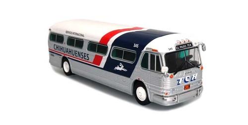 Iconic Replicas HO 87-0315 1958 GM PD4104 Bus, Chihuahuenses (El Paso, Texas)