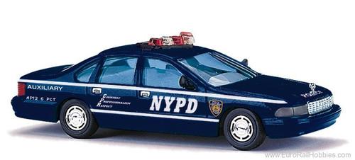 Busch HO 47611 1995 Chevrolet Caprice Classic 4-Door Sedan, New York Police Department Auxiliary