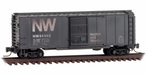 Micro-Trains Z 50044066 Weathered 40' Standard Box Car with Single Door, Norfolk and Western
