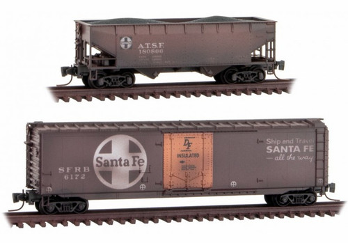 Micro-Trains Z 99405260 Weathered 2-Pack, Atchison Topeka and Santa Fe