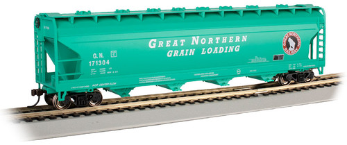 Bachmann HO 17509 ACF 56' 4-Bay Centerflow Covered Hopper, Great Northern #171304