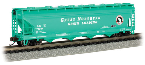 Bachmann N 17561 ACF 56' 4-Bay Centerflow Covered Hopper, Great Northern #171304