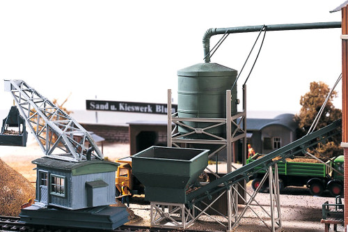 PIKO HO 61125 Sand Works Silo and Transport Kit
