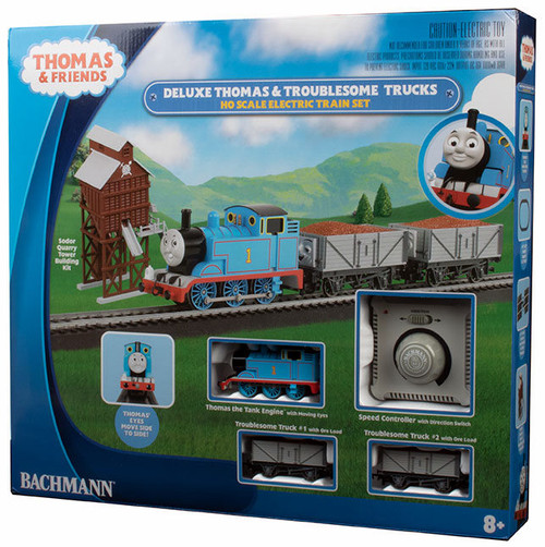 Bachmann HO 00760 Deluxe Thomas and The Troublesome Trucks Freight Set
