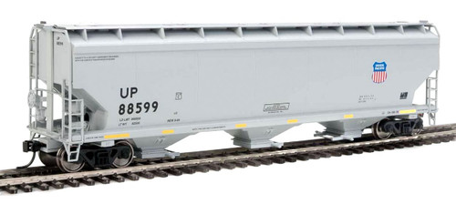 Walthers Mainline HO 910-7709 60' NSC 5150 3-Bay Covered Hopper, Union Pacific #88599