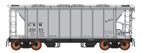 Intermountain HO 48687-05 1958 Cu. Ft. 2-Bay Hopper, Chicago and North Western #69321