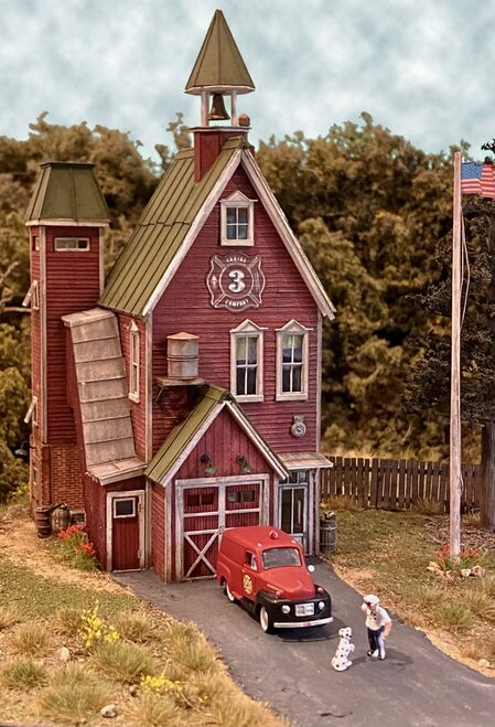 Bar Mills Scale Model Works HO 0612 Smokey Hill Fire Company Kit