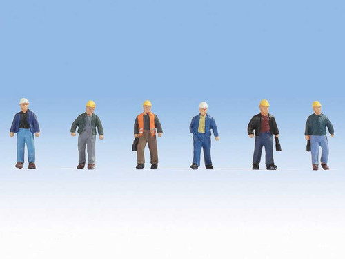 Walthers SceneMaster HO 949-6047 Construction Workers Figure Set #2 (6)