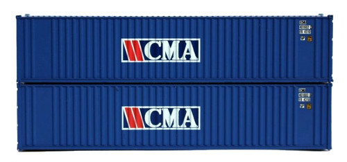 Jacksonville Terminal Company N 405506 40' Standard Height 2-P-44-P-2 Containers, CMA (2)