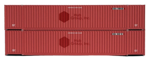 Jacksonville Terminal Company N 535013 53' High Cube 6-42-6 Containers, CSX (ex-HUB Group) (2)
