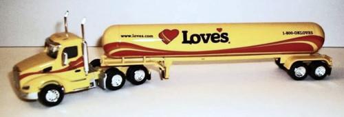 Trucks N Stuff HO 400686 Peterbilt 579 Tractor with Propane Tank Trailer, Love's