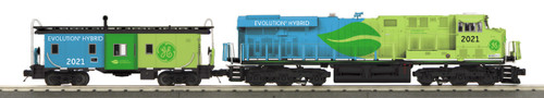 MTH RailKing O 30-20812-1 ES44AC Imperial Diesel and Caboose Set, GE Evolution #2021