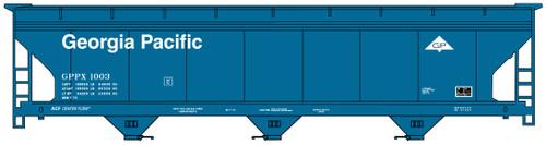 Accurail HO 81373 ACF 3-Bay Covered Hopper Kit, Georgia Pacific #1003