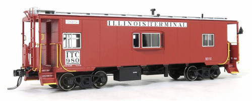 Tangent Scale Models HO 60116-01 Bay Window Caboose, Illinois Terminal #980
