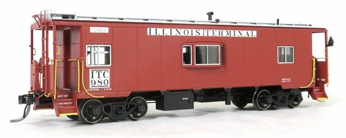 Tangent Scale Models HO 60116-02 Bay Window Caboose, Illinois Terminal #982