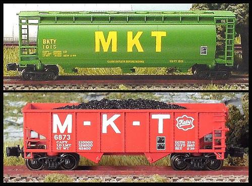 Full Throttle Z FTCOL55 Freight Hopper Set, Missouri-Kansas-Texas (2-Pack)