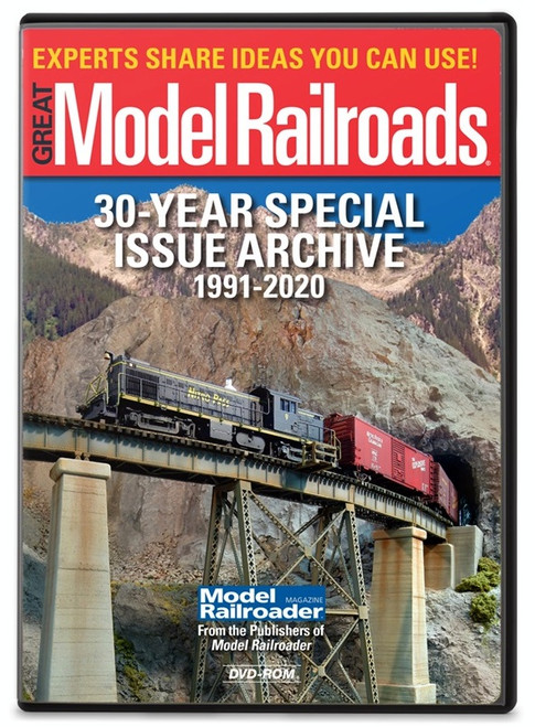 Kalmbach Publishing DVD 15363 Great Model Railroads 30 Years Special Issue Archive 1991-2020