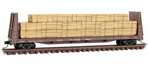 Micro-Trains N 05400290 61' Bulkhead Flat Car, Seaboard Air Line #48253