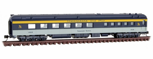 "Micro-Trains N 14600410 80' Heavyweight Diner Car, Chesapeake and Ohio ""Fraunce's Tavern"""