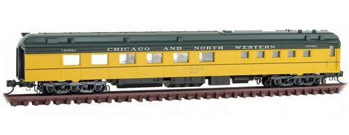 Micro-Trains N 14600430 80' Heavyweight Diner Car, Chicago and North Western #543